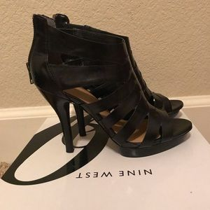 Nine West - Black Strappy Heels